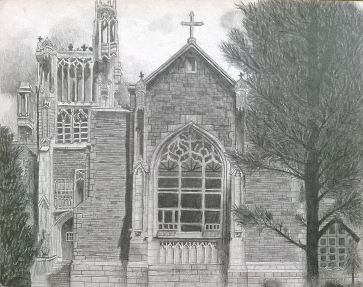 <strong>Cathedral - Honorable Mention, Visual Arts Category</strong><br />Mallory Lyon, Sophomore<br />All Saints Episcopal School; Hometown: Tyler, TX