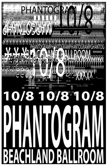 <strong>Phantogram Concert Poster - Honorable Mention, Design</strong><br />Jacob Corder, Lakewood High School; Hometown: Lakewood, OH