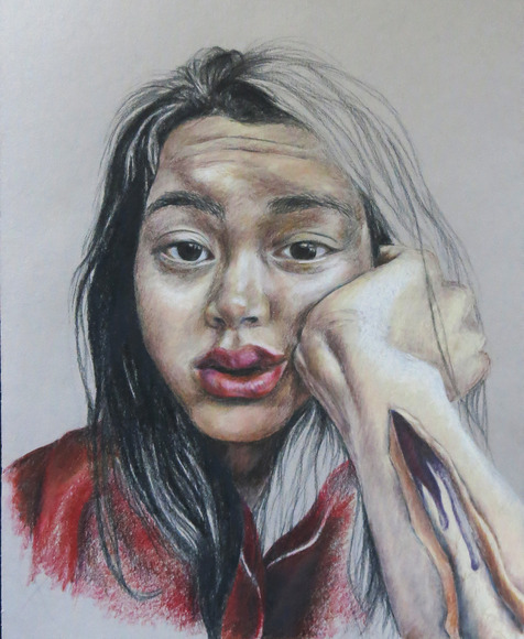 <strong> Disintegration of the Mind - Honorable Mention, Visual Arts Category </strong><br />Vivian Chuang, Senior<br />San Mateo High School; Hometown: Foster City, CA