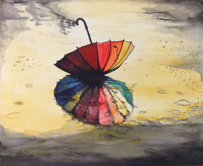 <strong>Dropped Umbrella - Honorable Mention, Visual Arts Category</strong><br />Haven Bradbury, Senior<br />Uniontown High School; Hometown: Uniontown, KS