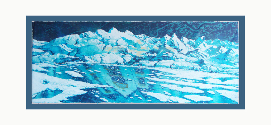<strong>MENTOR ICE</strong><br />George  Kozmon, 2017<br />acrylic on canvas, 8ft x 20ft