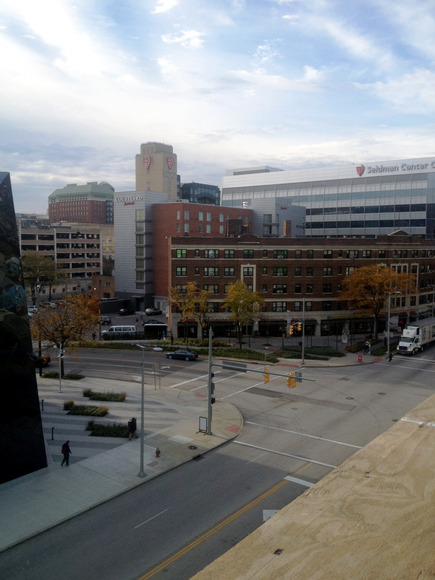 <strong>Suite view of Euclid Ave and Mayfield</strong><br />