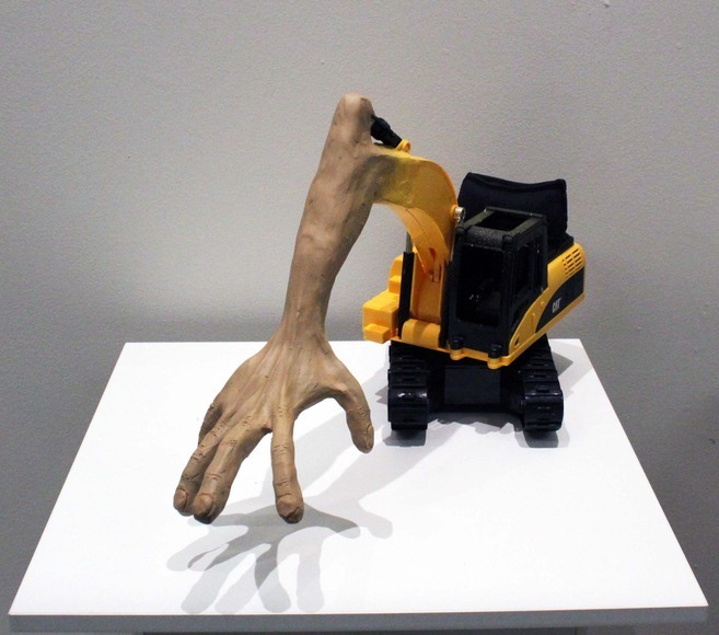 <strong>Excavator Anthropomorphization 1 - Honorable Mention, Visual Arts Category </strong><br />Alejandro Poler, Junior<br />French-American International High School; Hometown: San Francisco, CA
