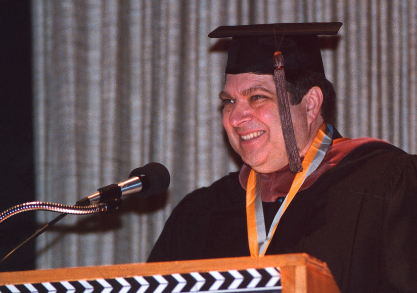 Richard Fiorelli accepting the Schreckengost Teaching Award in 2003.