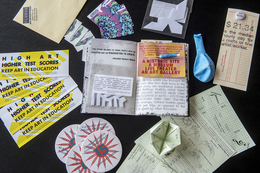 Design collateral for the Fluxus Arts Advocacy Project