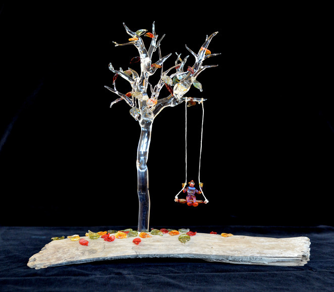 <strong>Glass Tree and Boy -  Honorable Mention, Craft Category</strong><br />Halie Saferstein, Senior<br />Weston High School; Hometown: Weston, CT