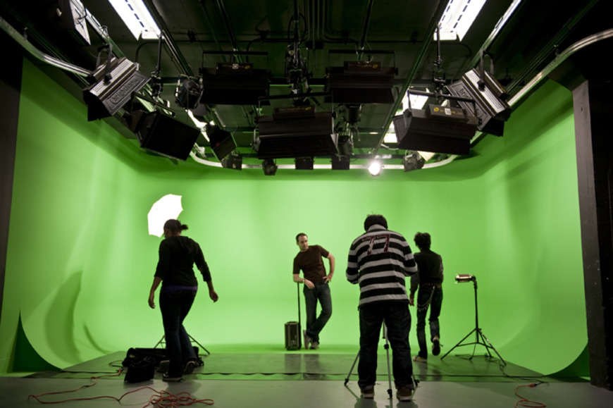 <strong>Not off-campus, but CIA's green screen room is one of the largest in the region, and is available to</strong><br />