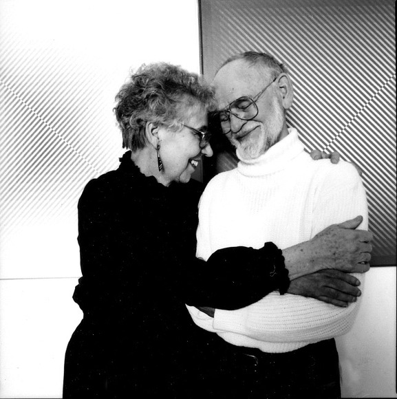 In 1963, he married former student Barbara Meerpohl. Both were CIA faculty members for decades, he in Painting and she teaching design in the college's Foundation program. Both were named faculty emeriti after they retired. Photograph: Herbert Ascherman