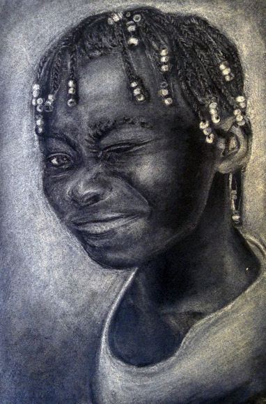 <strong>Haitian Girl - Honorable Mention, Visual Arts Category</strong><br />Abigail  Miller, Senior<br />Lake Center Christian School; Hometown: Uniontown, OH