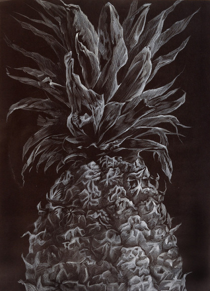 <strong>Half of a Pineapple - Honorable Mention, Visual Arts Category</strong><br />Julia Lee, Lynbrook High School - San Jose, California