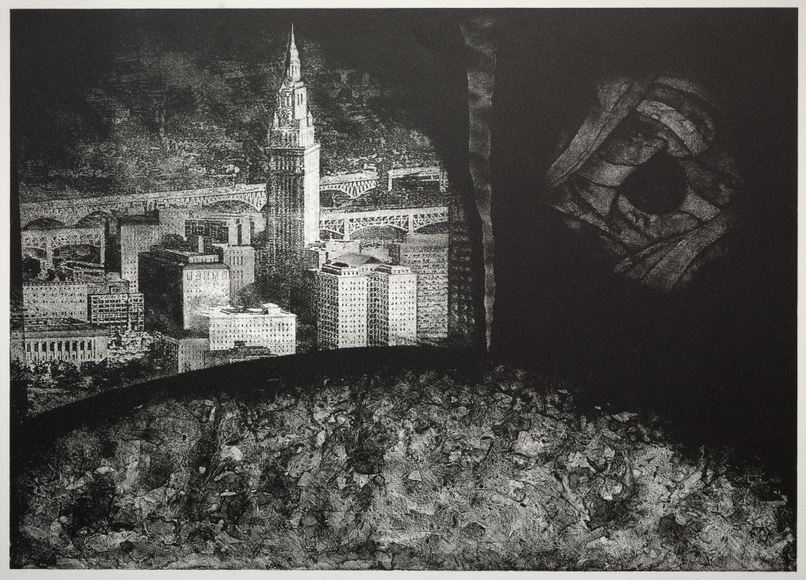 Michael Sean Holihan (American). Printmaker; on CIA faculty 1981-2002. City Nocturne (1988). Lithograph. Gift of University Print Club 1988.139