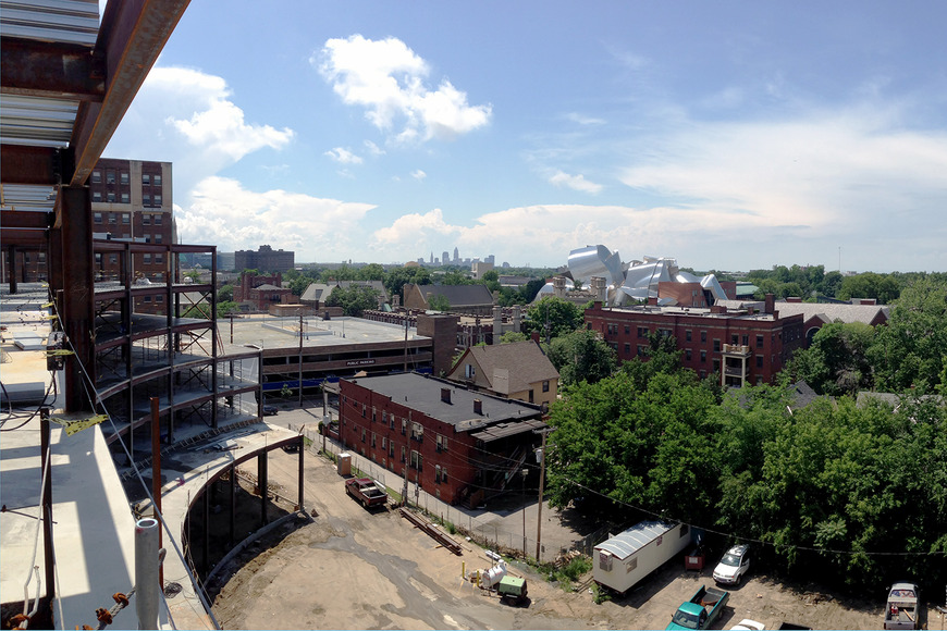 <strong>New CIA residence hall - View from the 5th floor</strong><br />2013