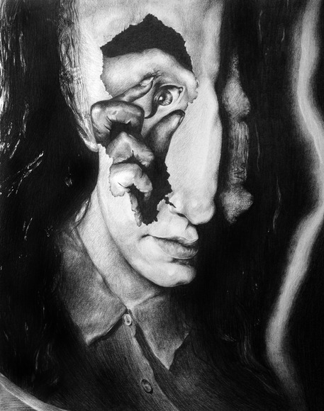 <strong>Inner Monocle: Graphite Self Portrait - Honorable Mention, Visual Arts Category</strong><br />Lillian Higgins, University of North Carolina School of the Arts - Winston-Salem, North Carolina