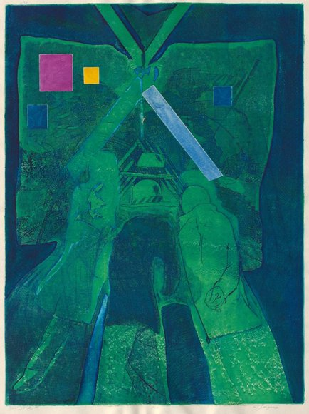 Robert J. Jergens '60 (American). Painter; on CIA faculty 1969-2000. New York III (c. 1964). Intaglio. Wishing Well Fund 1964.127
