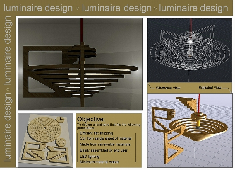 <strong>Luminaire Design - Honorable Mention, Design Category</strong><br />John Hata, University School - Hunting Valley, Ohio