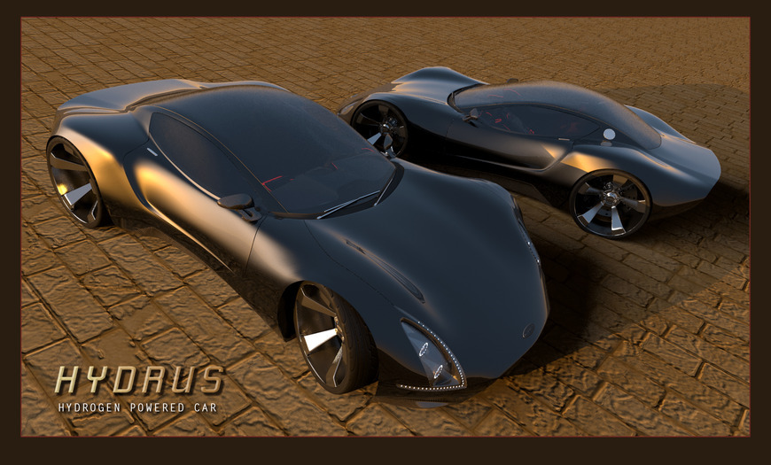 <strong>Hydrus Hydrogen Concept Car / Modo 601 / Photoshop CS6 - Honorable Mention, Design Category</strong><br />John O'Laughlin, Crawford County Career &amp; Technical Center - Meadville, Pennsylvania