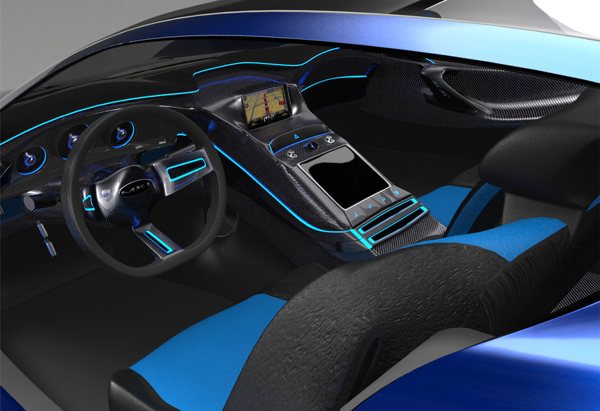 <strong>Hydrus Hydrogen Concept Car Interior / Modo 601 / Photoshop CS6 - Honorable Mention, Design Category</strong><br />John O'Laughlin, Crawford County Career &amp; Technical Center - Meadville, Pennsylvania
