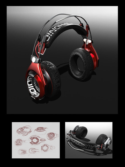 <strong>Audiophonic Studio Headphones / Modo 601 / Photoshop CS6 - Honorable Mention, Design Category</strong><br />John O'Laughlin, Crawford County Career &amp; Technical Center - Meadville, Pennsylvania