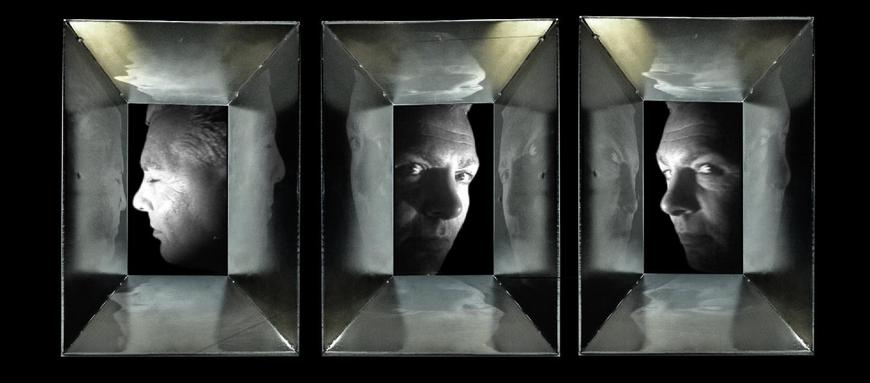 <strong>The General in his Labyrinth's (Triptych)</strong><br />Kasumi , 2014<br />film, video, welded chromed steel *Image courtesy of The Gallery at Gray's