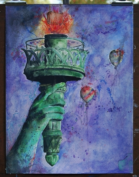 <strong>Lady Liberty - Honorable Mention, Integrated Media</strong><br />Harrison Downs, Senior<br />McCallie School; Hometown: Statesville, NC