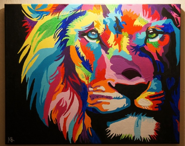 <strong>Lion - Honorable Mention, Visual Arts Category</strong><br />Andrea Robles, Junior<br />Prep school Tec de Monterrey - Hometown: El Paso, TX