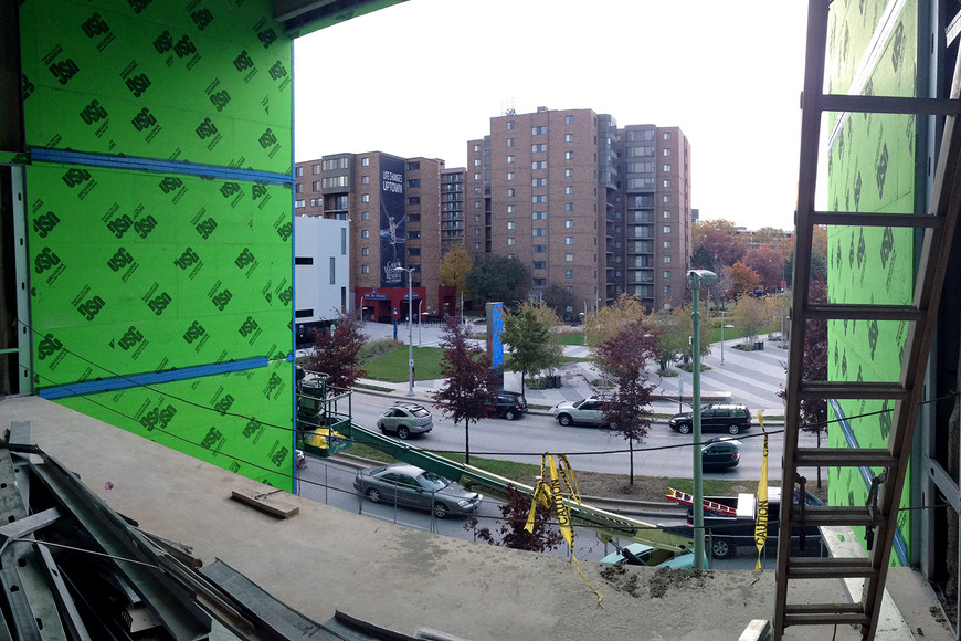 <strong>View onto Euclid from 2nd floor lounge</strong><br />