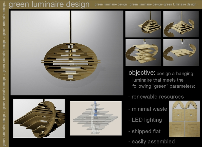<strong>Luminaire Design - Honorable Mention, Design Category</strong><br />Victor Mezacapa, University School - Hunting Valley, Ohio