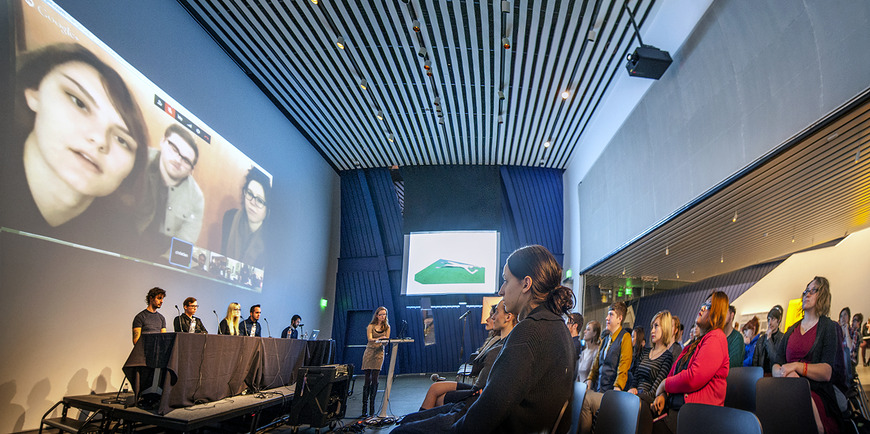 "CIA students organized a live, ""state of art"" video conference at the Museum of Contemporary Art (MOCA), conferencing with art students from other colleges across the country."