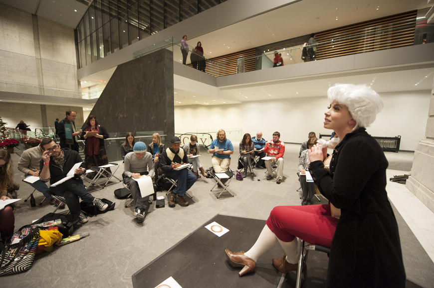 <strong>Students participate with the general public in &quot;Mr. Sketchy&quot; drawing night at the Cleveland Museum </strong><br />