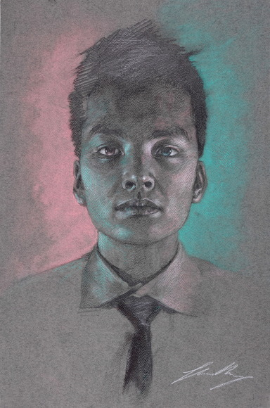 <strong>My Neon Sides - Honorable Mention, Visual Arts Category</strong><br />Shaun Wang, Junior<br />Deerfield Academy; Hometown: New York, NY