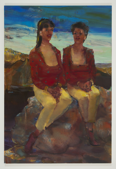 <strong>My Sister, My Mother, My Sister</strong><br />Angela  Dufresne , 2014<br />oil on canvas. Courtesy of the Artist and Monya Rowe Gallery.