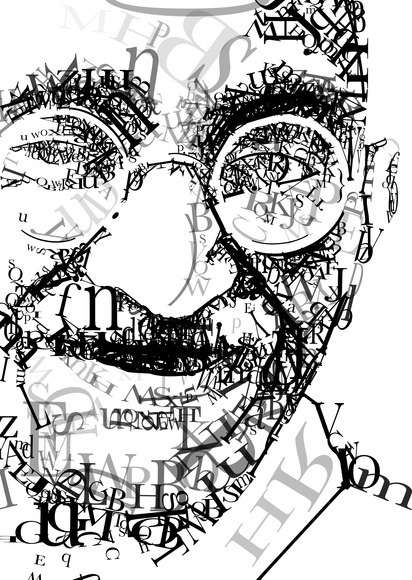 <strong>Portrait of Ghandi - Honorable Mention, Design Category</strong><br />Jessica Zylstra, NorthPointe Christian High School - Grand Rapids, Michigan