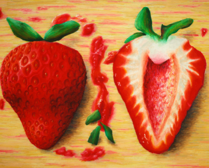 <strong>Sliced Strawberry - Honorable Mention, Visual Arts Category</strong><br />Laura Shumate, Senior<br />Linganore High School; Hometown: Mt. Airy, MD