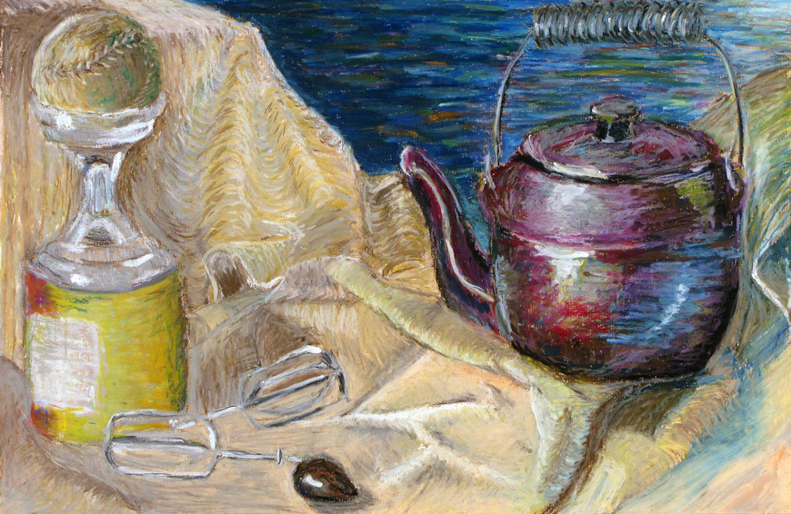 <strong>Still Life with Teapot - Honorable Mention, Visual Arts Category</strong><br />Nathan Parry, Junior<br />Upper Moreland High School; Hometown: Willow Grove, PA