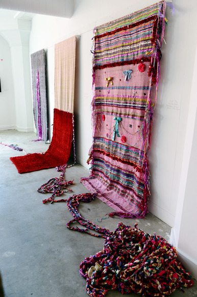 Natalie Grieshammer '13, 2013<br />Cotton, eyelash yarn, found fabric
