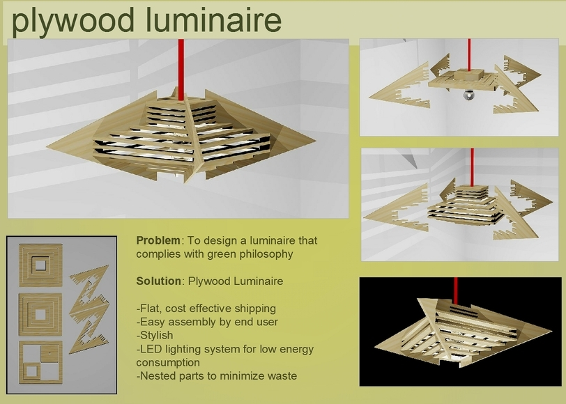 <strong>Luminaire Design - Honorable Mention, Design Category</strong><br />Geoffrey Svenson, University School - Hunting Valley, Ohio