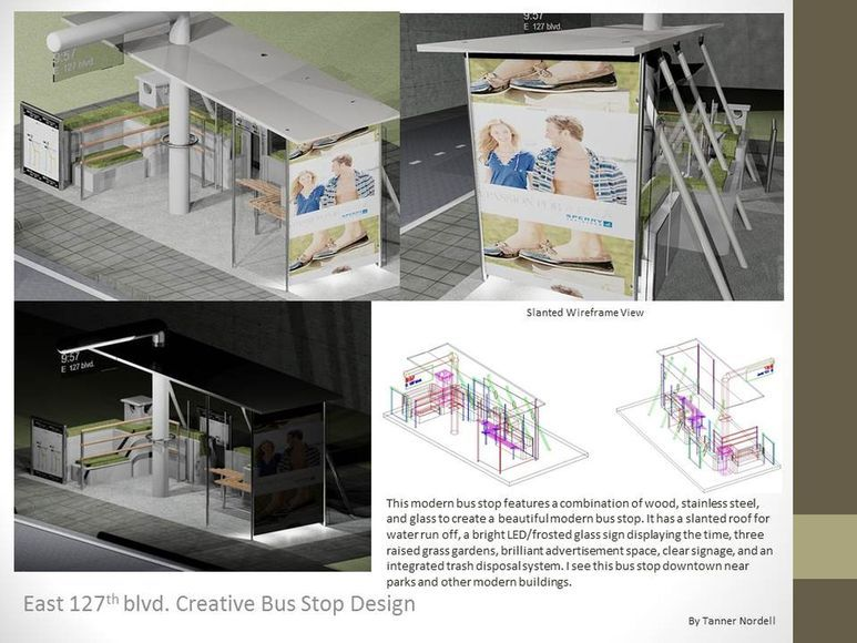 <strong>Bus Stop Design - Runner-Up: Design</strong><br />Henry Nordell, Junior<br />University School; Hometown: Gates Mills, OH