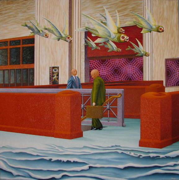 <strong>The Departure</strong><br />Joe Stavec, 2009<br />Oil on Canvas