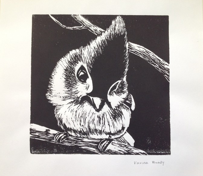 <strong>Tufted Titmouse - Honorable Mention, Visual Arts Category</strong><br />Karina Brady, Sophomore<br />Dayton Christian High School; Hometown: Centerville, OH