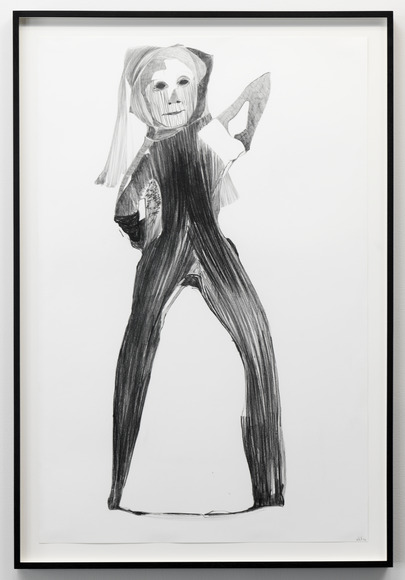 <strong>Standing Figure #3</strong><br />Nicola  Tyson, 2014<br />graphite on paper. Courtesy of the artist and Petzel Gallery, NY.