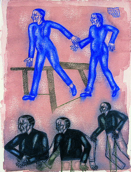 <strong>Women in Blue, Men in Black</strong><br />Arpitah  Singh, Courtesy of the artist and D.C. Moore Gallery<br />