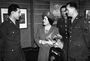 <strong>Bromberg meets Queen Elizabeth in 1944 at opening of the American War Artists exhibition</strong><br />