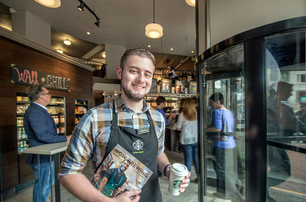 CIA student brewed up success via Starbucks work