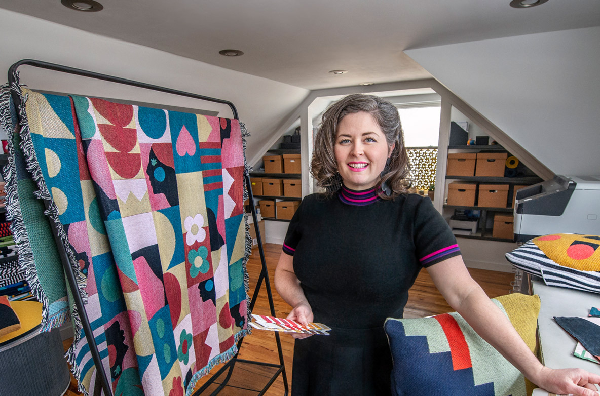Molly Fitzpatrick in her Mayfield Heights, Ohio, studio.