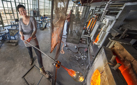 From Glass Blower to Artist: grad took full advantage of CIA's curriculum