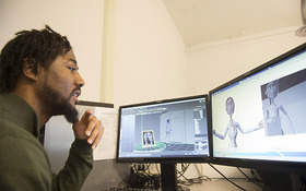 Continuing to grow: Q + A with Animation major Melvin Thomas