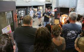 Glass majors attend conference of glass artists from US and Canada