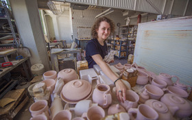 Ceramics gives student a way to make work that people can touch