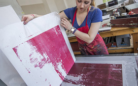 Immersed in a creative environment: Q + A with Printmaking major Samantha Konet