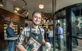 Graphic Design student brewed up success via Starbucks work